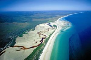 Aerial of Fraser Island