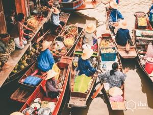 Provincia-di-yasothon-Mercato-galleggiante